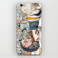 hockey iPhone & iPod Skins featuring Hockey fight by Chris Gauvain
