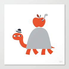 Turtle and Worm Canvas Print