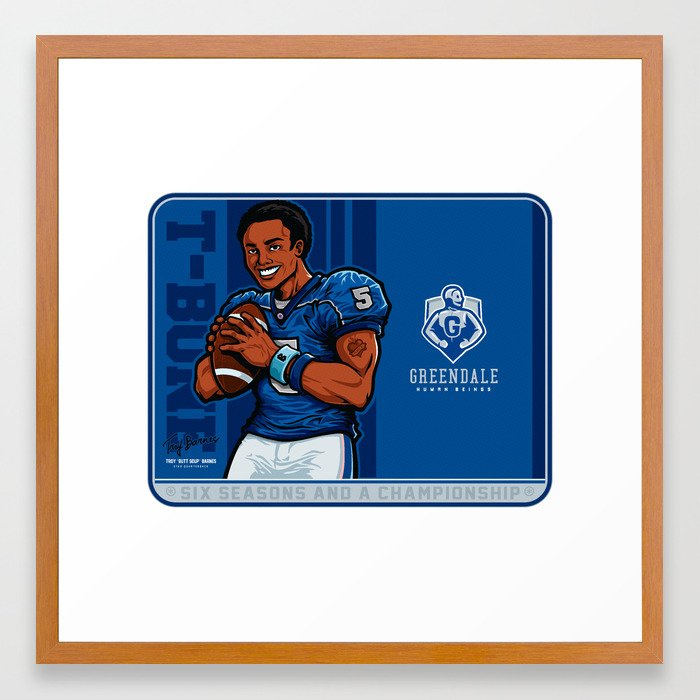 Troy Barnes: Star Quarterback Framed Art Print