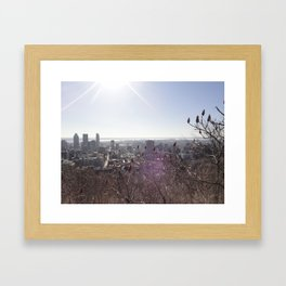 Glare and Frost Framed Art Print