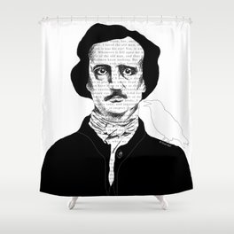 Persistence of Poe Shower Curtain