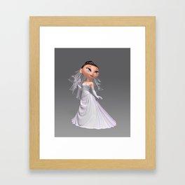 Cute Bride Framed Art Print
