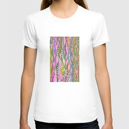 Long colored leaves T-shirt