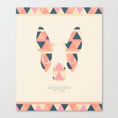 Boston Terrier: Triangles. Canvas Print