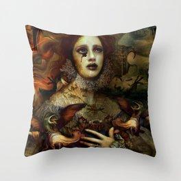 The Demon is hidden Throw Pillow