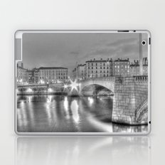 Bonaparte bridge in Lyon, France - hdr b&w Laptop & iPad Skin