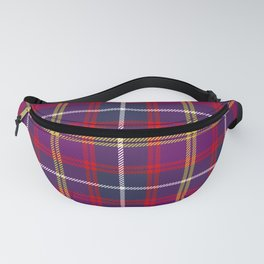 Purple Red Yellow Tartan Pattern Fanny Pack