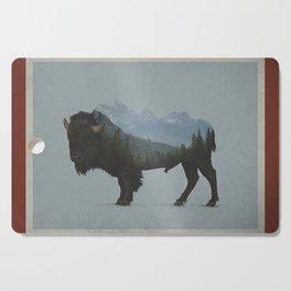 Wyoming Bison Flag Cutting Board