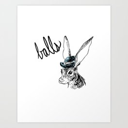 Dirty Dishes-- Hare Art Print