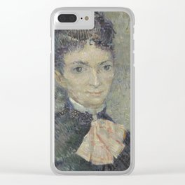 Portrait of Léonie Rose Charbuy-Davy Clear iPhone Case