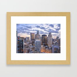 City Glow Framed Art Print