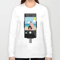 selfie Long Sleeve T-shirts featuring Selfie? by Chiara Belmonte