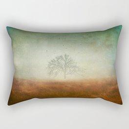 evolving mystery Rectangular Pillow