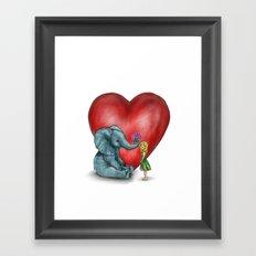 Pachyderm's  bouquet Framed Art Print