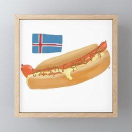 Icelandic Hotdog Framed Mini Art Print
