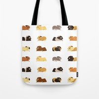 pigs Tote Bags featuring Guinea pigs by stephasocks