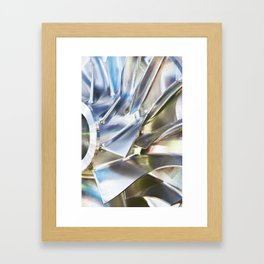 Blades of metal impeller Framed Art Print