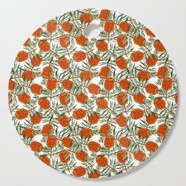 Bottlebrush Flower - White Cutting Board