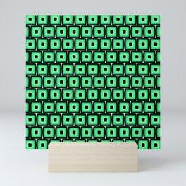 Mod Green Squares Mini Art Print