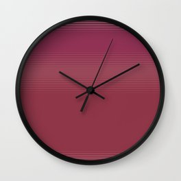 Subtle Stripe Coral and Pink Pattern Wall Clock