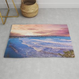 First Beach - Cliff Walk Newport, Rhode Island Sunset Landscape Rug