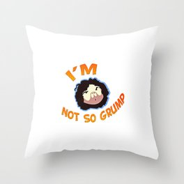 Grump Throw Pillow