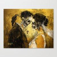 death Canvas Prints featuring 'Til Death do us part by Fresh Doodle - JP Valderrama