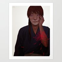 rk design Art Prints featuring rk by qiow