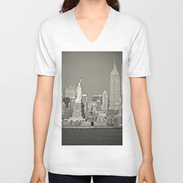 Returning Home - Home - N.Y.C.  Unisex V-Neck