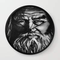 gandalf Wall Clocks featuring Gandalf by spiderdave7