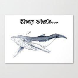 Sleep whale Canvas Print