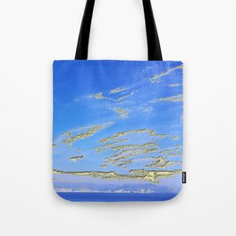Mediterranean sky with mountains Tote Bag
