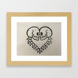 Skelleton Framed Art Print