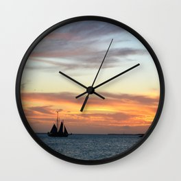 Sunset in Key West Florida Wall Clock