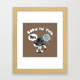 Born in the 70's Framed Art Print