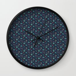 Lets take a walk (it's dark) pattern Wall Clock