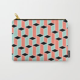 Pillars of coral, mint, and black Carry-All Pouch