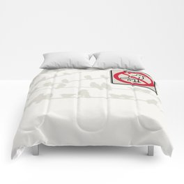 Birds Sign - NO droppings 3 Comforters
