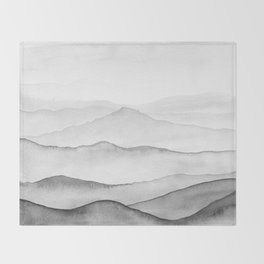 Black Mountains Throw Blanket