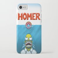 homer iPhone & iPod Cases featuring HOMER by BC Arts