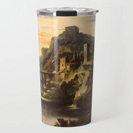 Evening Landscape with an Aqueduct,1818 Travel Mug