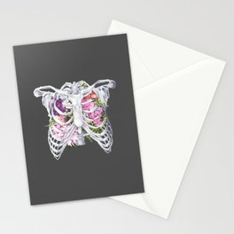 Floral Ribcage Stationery Cards