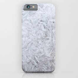 SCENERY 58 - Clear White Snowflake Frost Ice iPhone Case