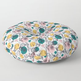 Passionfruit Abstract Smaller Pattern Floor Pillow