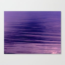 Movement of Water on a Calm Evening- Violet Abstraction Canvas Print
