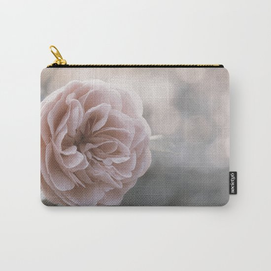 The last Roses - Pink English Rose at Backlight - Flowers Carry-All Pouch