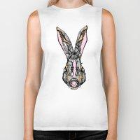 rabbit Biker Tanks featuring Rabbit by SilviaGancheva