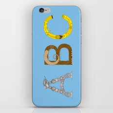 mAY BEE SEE be with you! (blue) iPhone & iPod Skin