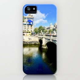 River Liffey, Dublin Pamorimic iPhone Case