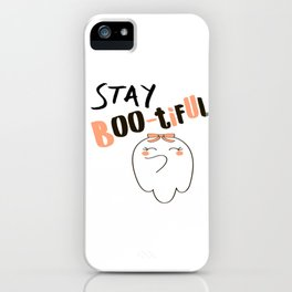 Halloween Stay Bootiful Ghost Gifts iPhone Case